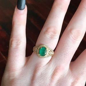 Jewelry - NEW RARE 14k EFFY Emerald Diamond Ring Size 7.5